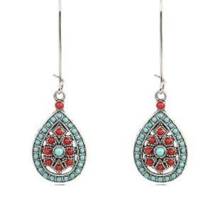 Graceful Dangle Vintage Water Drop Earrings